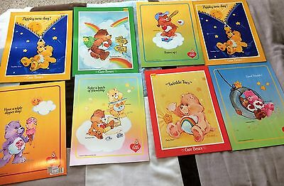 Vintage Care Bear 1985 Mead Folders Lot Of 8 - Never Used Pocket Folders