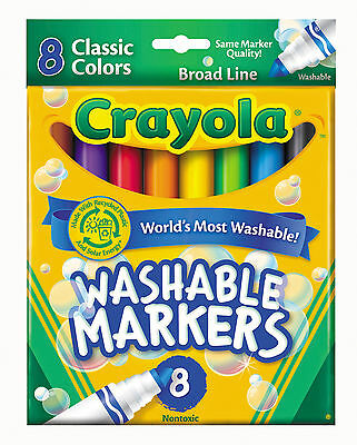 Crayola Washable Classic Colors Markers-Pack of 8