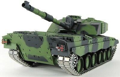 Heng Long 1:16 British Challenger 2 RC Tank - 2.4GHz  Pro Version - Camo Body