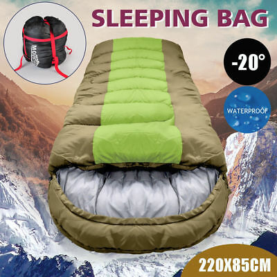 -20° Degree Thermal Single Outdoor Camping Sleeping Bag Envelope Tent Hiking New