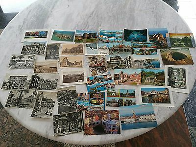 Vintage Postcards Italy approx 35 cards. Used and Unused