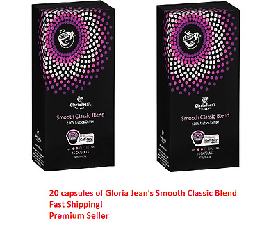 20 Capsules Gloria Jeans Coffee Smooth Classic Blend Pod Caffitaly System