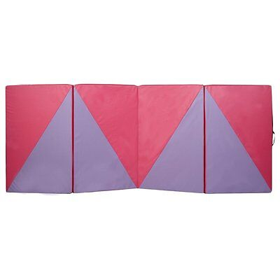 Suede Gymnastics Folding 2.2M Balance Beam or 3M Panel Mat Kids Home Exercise OM