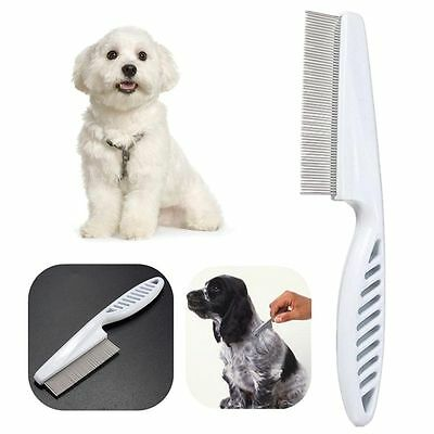 Dog Plastic Shedding Flea Stainless Steel Pin Trimmer Hair Lice Brush Pet Comb