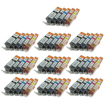 50 Ink Cartridges For Canon Pixma MG5150 MG5250 MG5350 MG6150