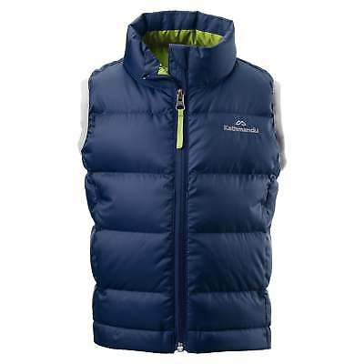 Kathmandu Elcho Kids Boys Girls Warm Winter Outdoor Duck Down Puffer Vest Blue