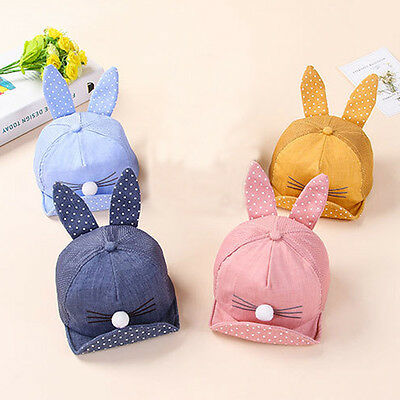 Cute Baby Hat Summer Outdoor Sun Hats Cat Cap For 6 months-2 years Babys Unisex