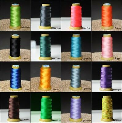 Bonded Polyester Sewing Thread For Denim Leather Car Seat Dia 0.5/1mm Pick Color