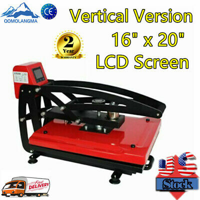 """16""""x 20"""" Vertical Clamshell T-shirt Heat Press Transfer Machine Sublimation CE"""