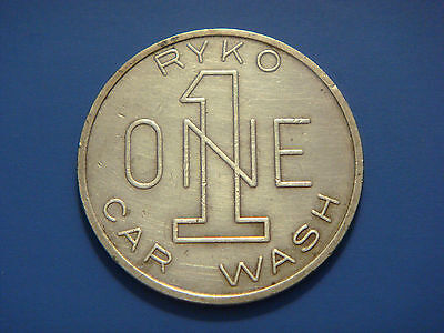 Vintage Good For One RYKO Car Wash Token