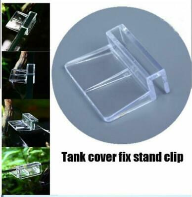 Glass Cover Clip Support Holder Aquarium Tank - Acrylic Clip 6/8/10/12mm 4pcs Y