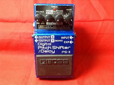 Used BOSS PS-3 Digital Pitch Shifter/Delay Effect Pedal w/Tracking Number