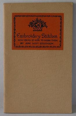 Embroidery stitches How to work them June Scott Stevenson old Vintage book VGC