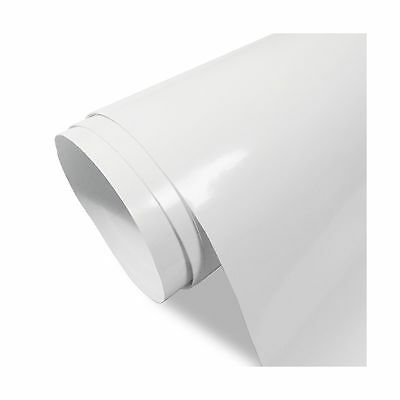 12''x10ft Glossy White Permanent Adhesive Vinyl for Craft CuttersLettersD... New