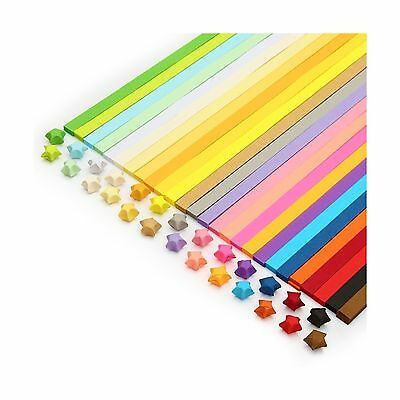 Colybecation Double Sided Origami Stars Paper - 27 Colors 1000 Sheets New