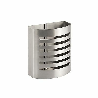InterDesign Forma Magnetic Pencil/Pen Holder Cup - Brushed Stainless Steel New