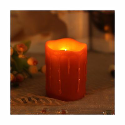 Home Impressions Battery-Powered Flameless Dripping LED Candle with Timer... New