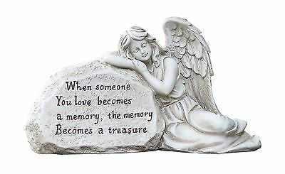 Napco 11293 Memory Becomes a Treasure Memorial Plaque with Sleeping Angel... New