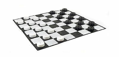 Giant Checkers Set with Giant Mat New
