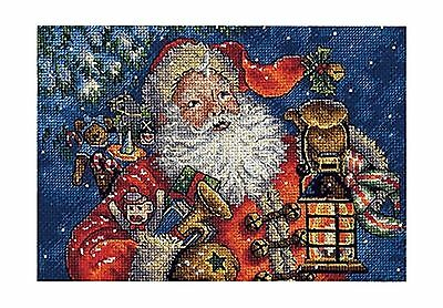 Dimensions Counted Cross Stitch Gold Petite Collection Nighttime Santa New