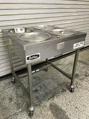 Heat & Ice IcIng Table Cart Belshaw H&I-4 NEW Bowls #6334 Glazing NSF Hot