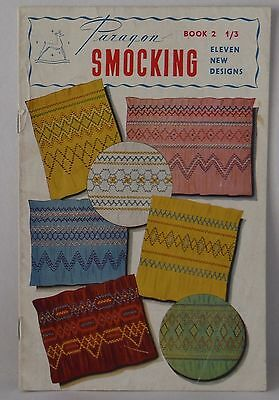 Paragon Smocking book 2 eleven new designs vintage book 1950's