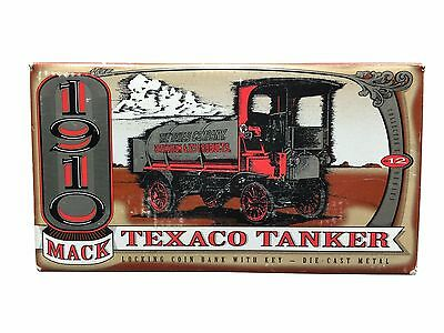 "TEXACO 1910 MACK TANKER/BANK Die Cast in box ""ERTL"" Piggy Bank NIB"