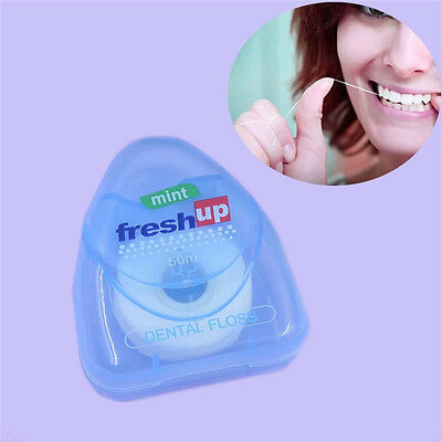 50m Portable Dental Floss Care Picks Tooth Cleaner Health Hygiene Supplies New