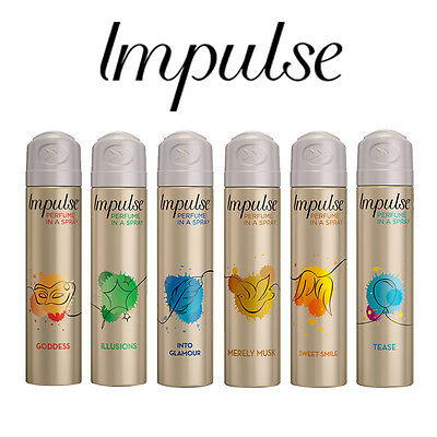 Impulse Perfume In A Spray Choose Your Fragrance 57G 75Ml