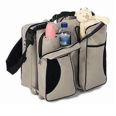 Travel Muli-Purpose 3 in 1 Diaper Bag  Bassinet Change Station Baby Tote Bag Bed