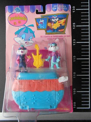 Vintage Cucciolandia Settevite Music Rock Band Kenner Figure Litlle Pet Shop