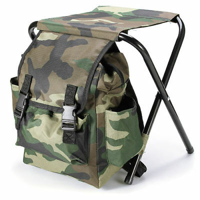 Fishing Chair Outdoor Portable Folding Stool Backpack Portable Folding Fishing C