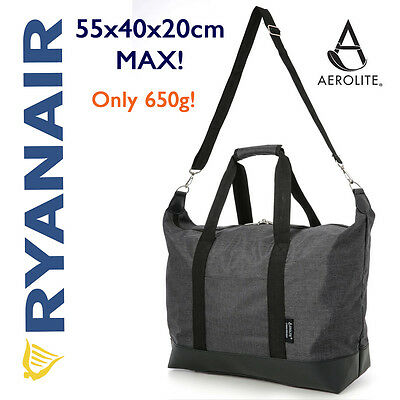 Ryanair MAX 55x40x20cm Holdall Duffle Weekend Shoulder Hand Luggage Cabin Bag