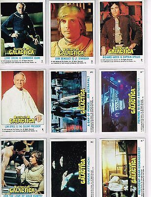 Battlestar Galactica - Complete Trading Card Set (132) - TOPPS 1978 - EX+/NM