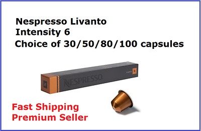 30 50 80 100 Capsules Nespresso Coffee Livanto Coffee Pod Popular Flavour