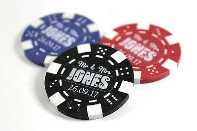 Personalised Poker Chips Genuine Casino Wedding Favours Table Decorations