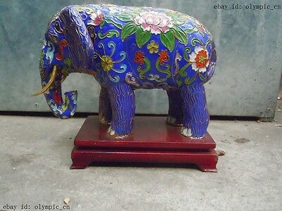 China Cloisonne copper carved finely elephant sculpture statue