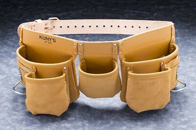 Kunys AP630 Carpenters Full Grain Leather 13 Pocket Tool Belt Holder Apron New