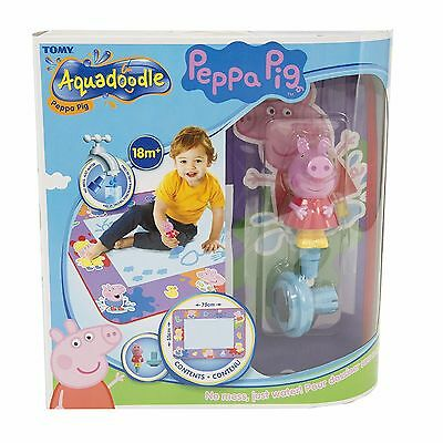 TOMY 72034 Aquadoodle Peppa Pig Water Drawing Large Mat includes Pen & Stamp