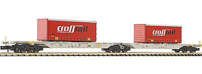 "825310 Fleischmann Double Container Wagon ""Crossrail"" N Gauge New & Boxed"