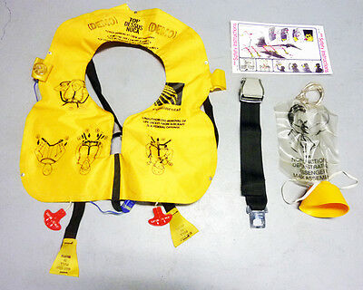 Cabin Crew Training Material (Life jacket, Safety belt, Oxygen mask.)