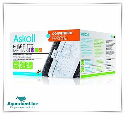 Askoll Pure Filter Media Kit M L XL Formato Convenienza  Ricambio filtri