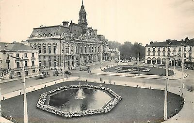 37 Tours Place Jean Jaures Hotel De Ville Et Jets D'eau - Carte Photo