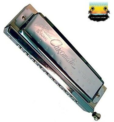 NEW 10 HOLE CHROMATIC HARMONICA in C - AMAZING DEAL! produces extra notes