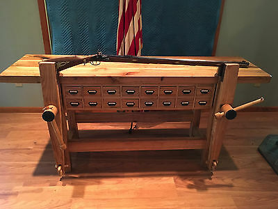 Vintage Carpenter / Gunsmith Workbench