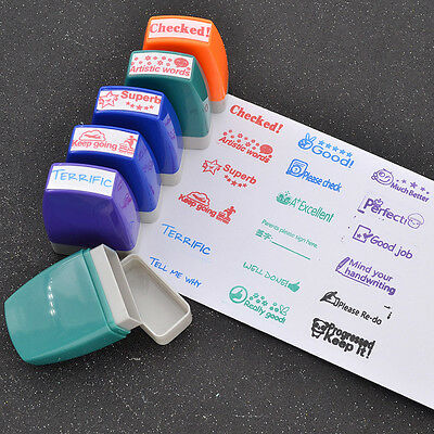 personalized teacher stamp self inking school student reward various