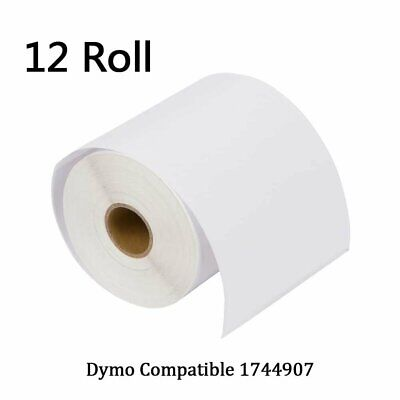 12 Rolls Thermal Shipping Labels 4x6 Compatible Dymo 4XL Labelwriter 1744907