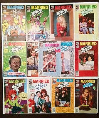 "Large Lot Of ""married With Children"" Comic Books (3D Glasses)"