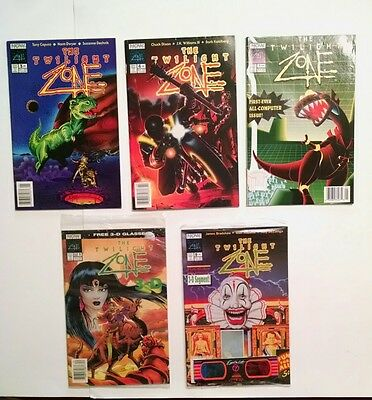 Lot Of 5 The Twilight Zone Comic Books Incl. 3 -D