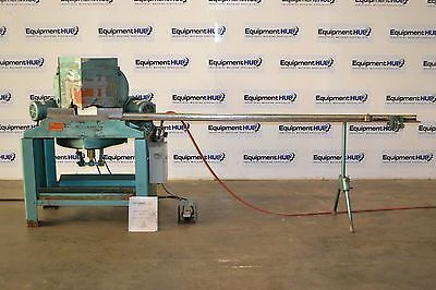 """Pistorius MN-300 Pneumatic 14"""" Double Miter Saw w/ Infeed Table"""